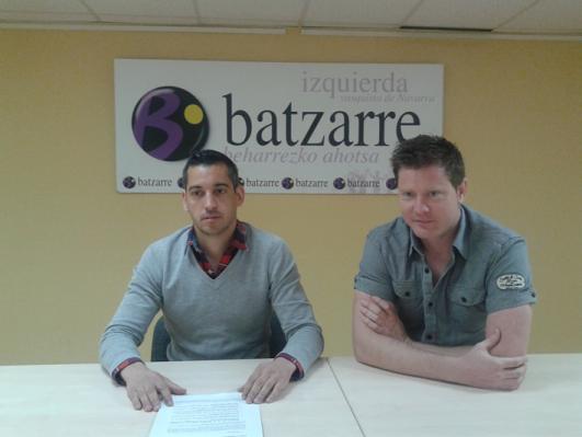 Miembros de Batzarre, en una rueda de prensa (Foto: Batzarre)