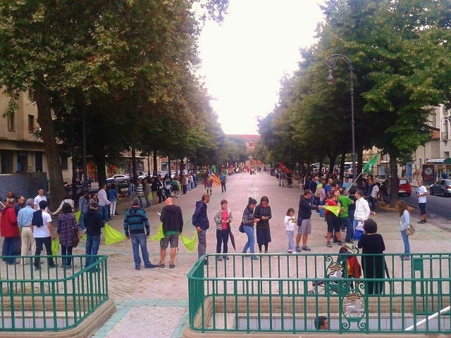 Cadena Humana en Pamplona