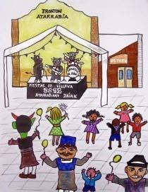 El cartel txiki de las fiestas de Villava