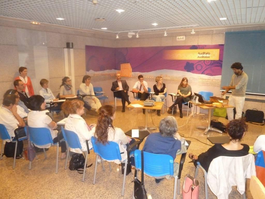 Imagen del taller realizado esta semana en el Auditorio de Barañáin
