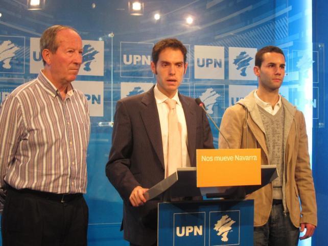 El secretario de organización y comunicación de UPN, Sergio Sayas en una imagen de archivo