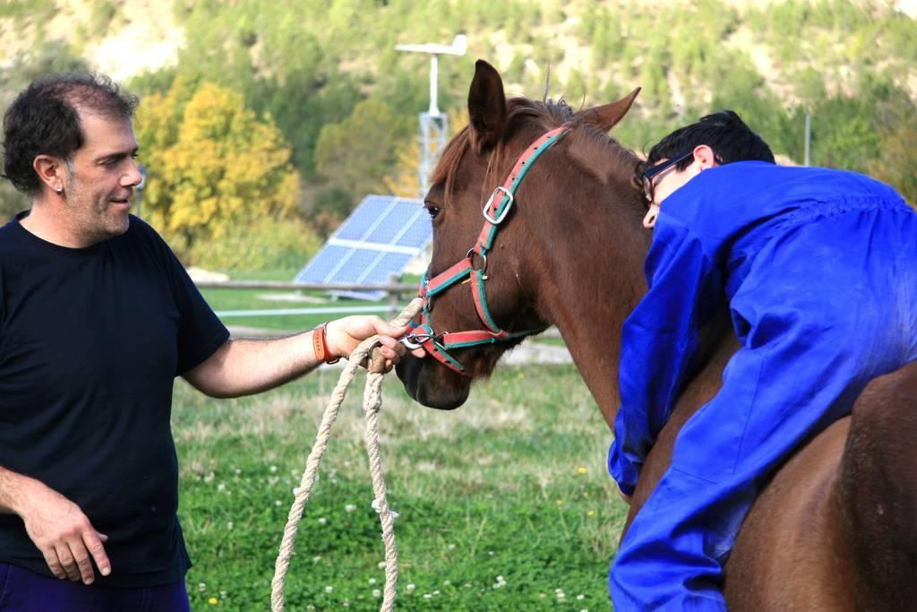Una imagen de las terapias con animales que lleva a cabo la fundación Ilundáin Haritz Berri
