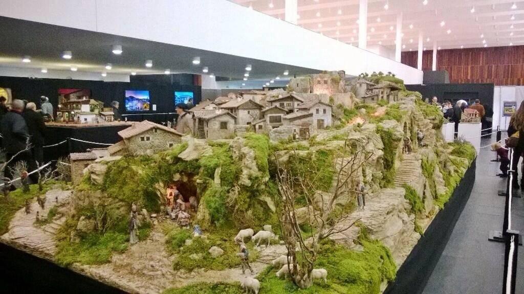 Una imagen de la exposición (FOTO: Belenistas Pamplona)
