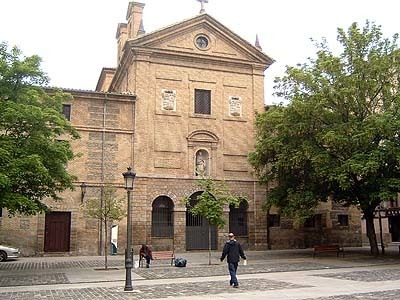 Una imagen de la plaza de los Ajos, en Pamplona, junto al convento de Agustinas recoletas