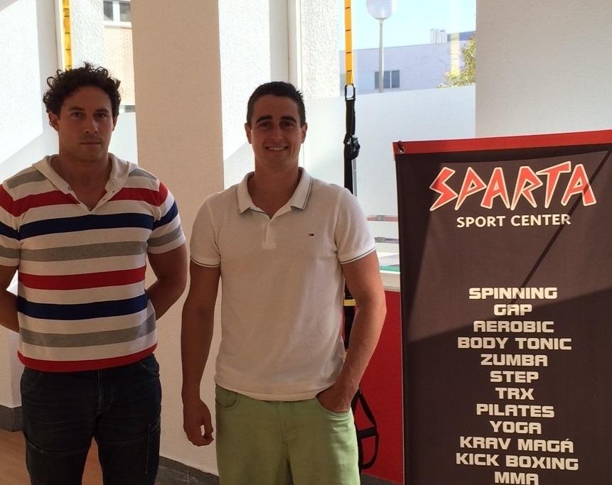 Josema Azcona y Óscar Vergara, gerentes de Sparta Sport Center