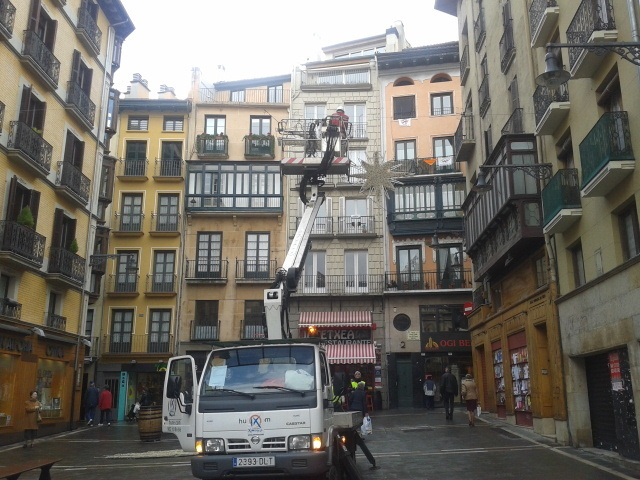 Luces de Navidad en Pamplona