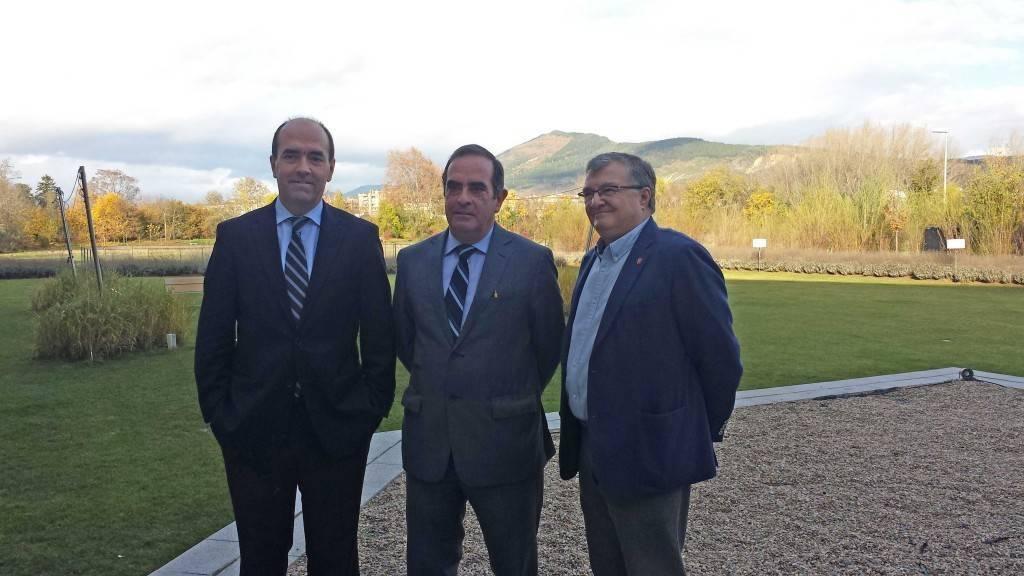 De izda. a dcha.: Javier Galardi, Javier Troyas y Moncho Iriarte