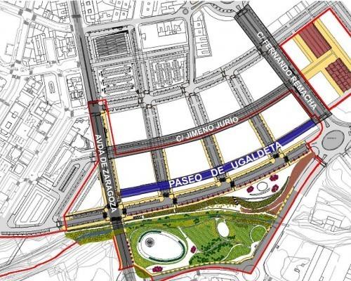 Plano ubicación Paseo Ugaldeta