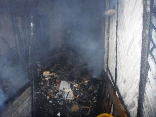 Una de las estancias arrasadas por el fuego