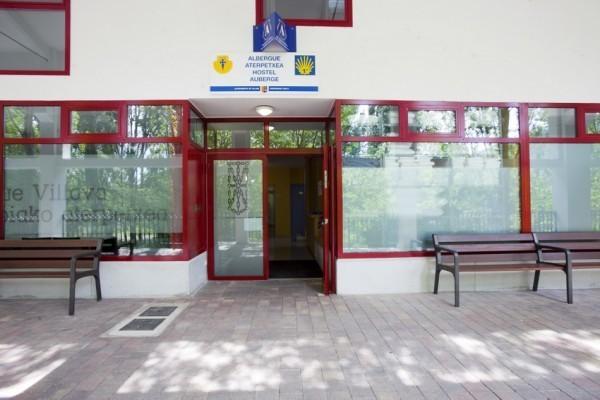 Entrada al albergue de peregrinos de Villava, Navarra :: Albergues del Camino de Santiago