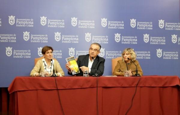 Enrique Maya y las ediles Caballero y Elizalde, en la rueda de prensa de este jueves