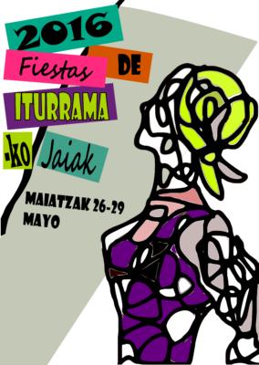 Cartel anunciador, diseñado por Itxaso Roa