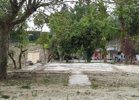 Zona ocupada por chabolas en Santa María la Real
