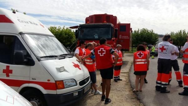 Puesto Mando Incendio Tafalla 2016 - Cruz Roja Navarra