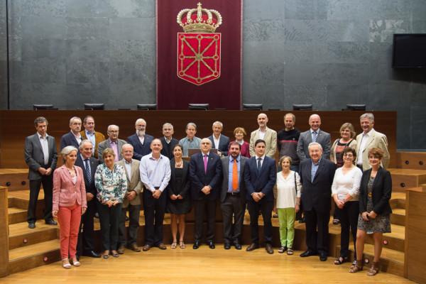 Recepción Euskaltzaindia. Parlamento de Navarra.