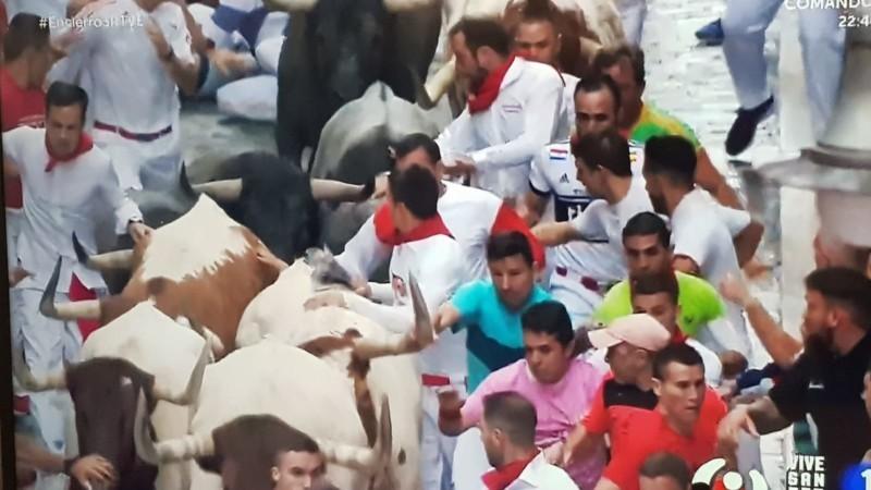 Los toros de Escolar protagonizan el encierro más rápido de los Sanfermines